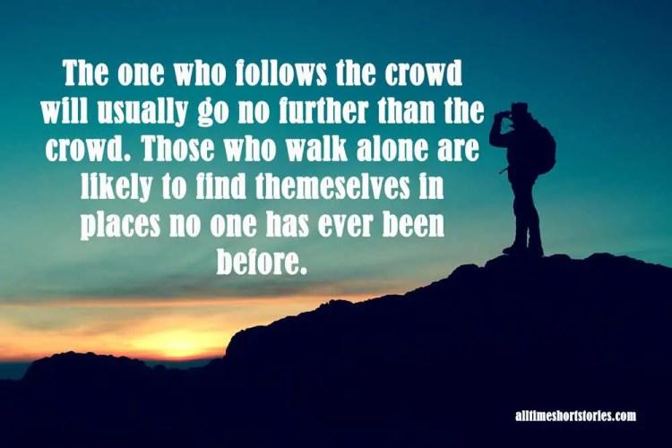 Inspiring Quote about unique path