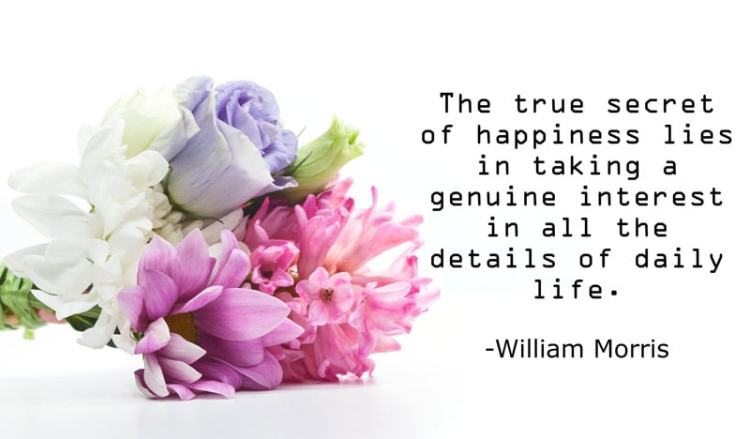 quote about the secret of happiness