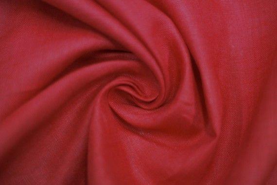 tissu lin uni rouge de qualite tissu au metre tissu pas cher alltissus com