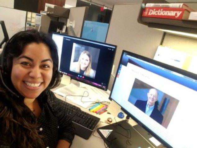Melody Gonzalez at work