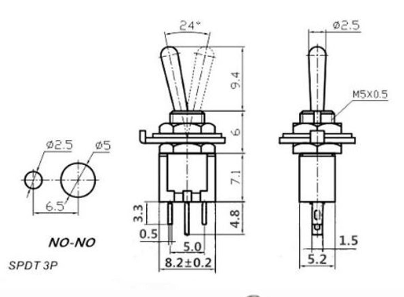 Pair Smts 102 Sub Mini Toggle Switch Spdt
