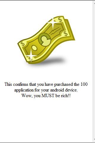 100 Приложение Доллара ($111.05)