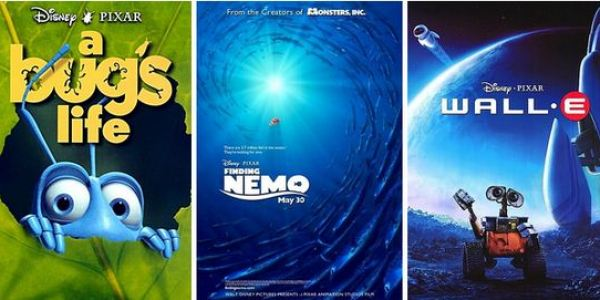 The ideas for Wall-E, Monsters Inc, A Bug's Life and Finding Nemo came from a single lunchtime brainstorming session in 1994