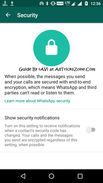 Read Whatsapp Security