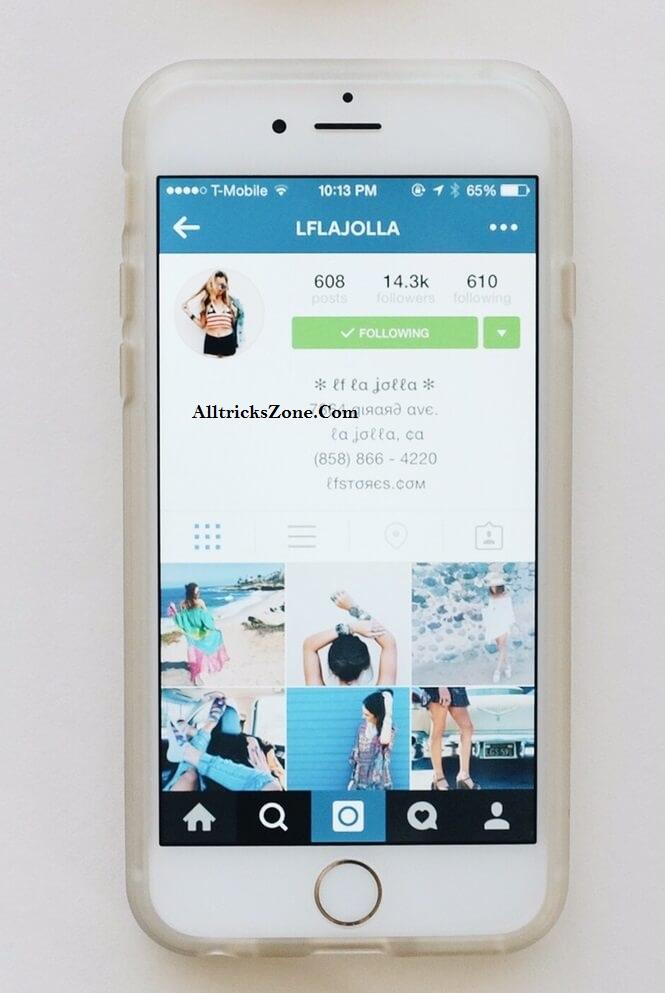 center your instagram bio