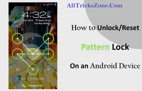 unlock pattern lock without data loss