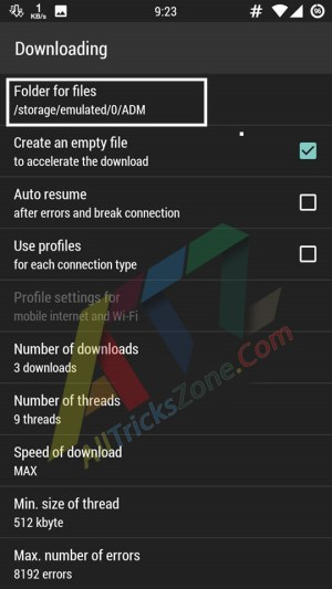 download big files in android to sd card