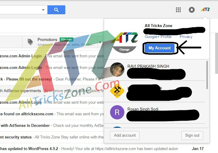 Trick to Create Unlimited Multiple Gmail Accounts Without