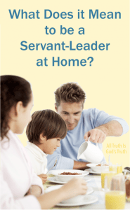 What Does It Mean to be a Servant-Leader at Home?