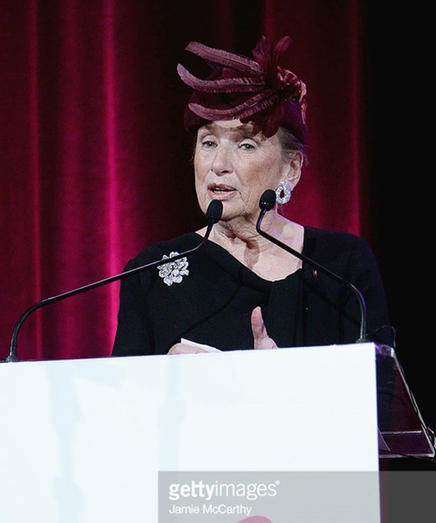 Roz Goldstein speaking at Breast Cancer Research Foundation Hot Pink Party 2014