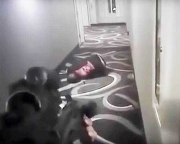 Video still taken 4 seconds after Daniel Shaver was shot 5 times BY police officer Phillip Brailsford