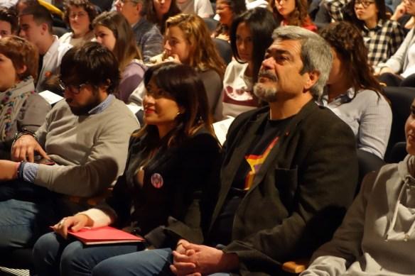 L'alcaldesa de Gavà Raquel Sánchez i el presiden de l'Amical Enric Garriga