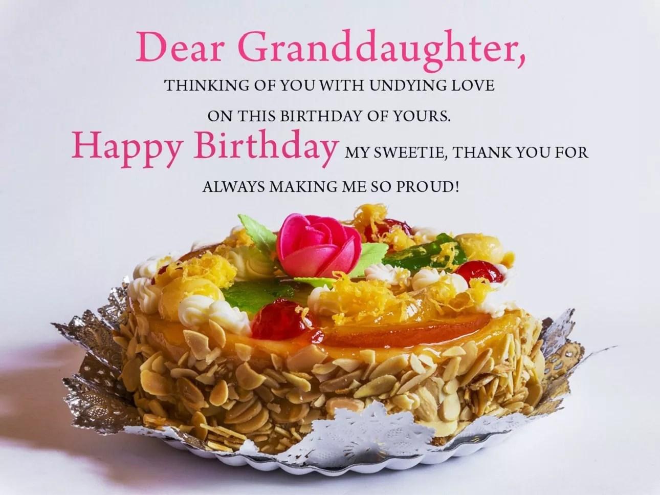 Wishes Granddaughter Birthday Happy