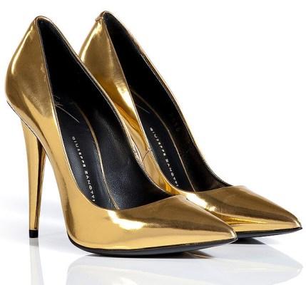 Giuseppe Zanotti metallic heels
