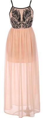 Monsoon peach romantic maxi dress