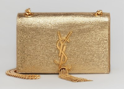 Saint-Laurent-YSL metallic bag