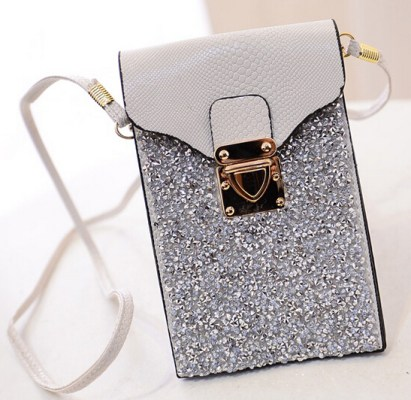 Swarovski crystal mobile phone handbag