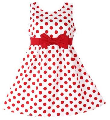 kids fahion 5---Red polka dot dress