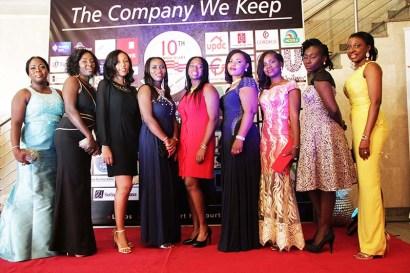 L-R: Tuokpe Etikerente, Guest, Davina Oji, Adeyinka Fowowe, Elizabeth James, Irene Eraze, Milliscent Ozuzu, Helena Oloriegbe, with Bisi Soji-Oyawoye