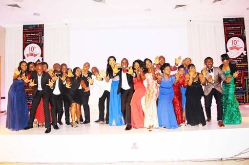 L-R: Adeyinka Fowowe, Olufunke Olaitan, Samuel Olaitan, Oladimeji Akinbami, Queen Akinbami, Adeniyi Soleye, Tutu Okunubi, Itaya Oyeb, Olusoji Oyawoye, Blessing Ujawe, Seun Ajibade, Irene Etuhu, Milliscent Ozuzu, Henry Eraze, Opeyemi Bello, Ugoaghalam Uche, Onyinye Emefiene, Vivian Agwuegbo, Emeka Nwafor, Kelechi Haidome