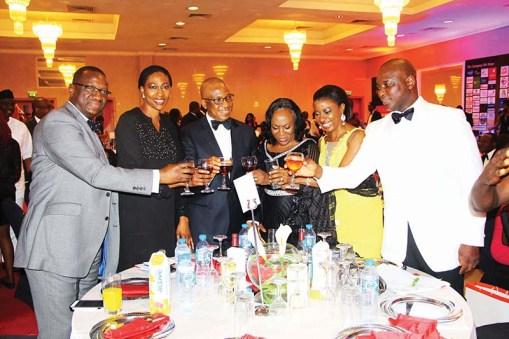 L-R: Yemi Ajidiran, Mrs Onari Duke, Alex Okoh, Morenike Alex Okoh, Bisi Soji-Oyawoye, Olusoji Oyawoye