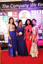 L-R: Blessing Ujawe, Opeyemi Bello, Irene Etuhu with Milliscent Ozuzu