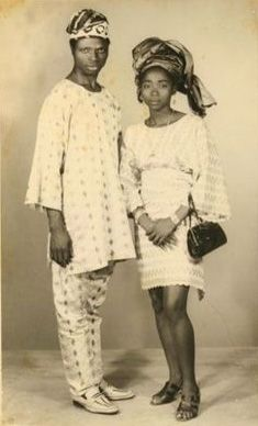 Picture of a couple taken at Paramount Photography studios, Lagos in the 1970s.