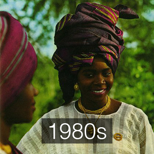 The Gele in this picture says it all about the elaborate styles of that time.