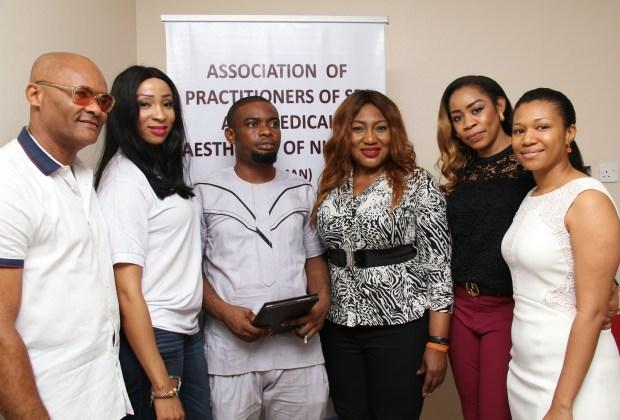 L-R: Dr Bruce Nwachie, Chinaeze Odinamadu, Dr. Felix Avajah,,Arin Adeniyi,Dayo Adebayo,Joyce Busari