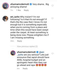 Ufuoma McDermott, Mildred Okwo call out family for collecting 370k from their daughters rapist