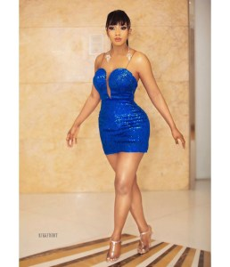 Big Brother Naija 2019 winner, Mercy Eke stuns in blue, promises to start rewarding fans with 100k