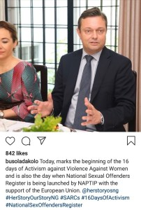 Busola Dakolo on sex offender register