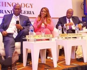 Linda Ikeji in a panel