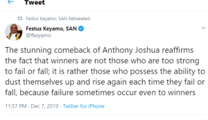 Winner is not too strong to fail