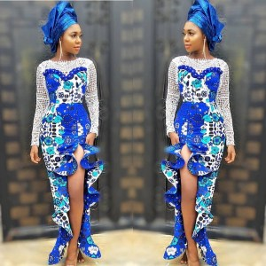 How to rock Ankara side slit dresses