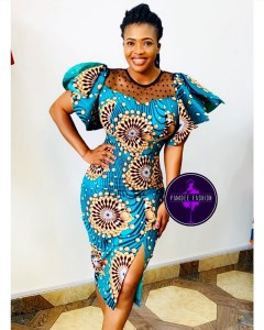 Ways to rock Ankara side slit dresses