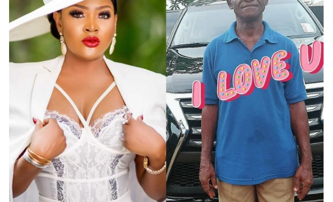 Fathers Day: Actress Uche Elendu schools fans insulting her 'poor father'