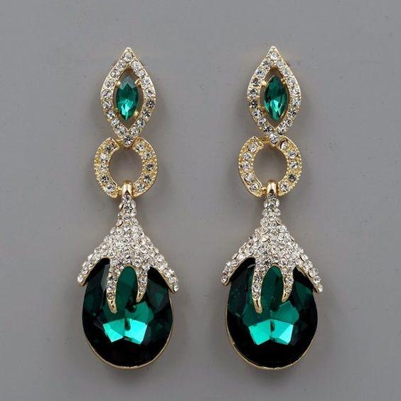Emerald Green Crystal Rhinestone