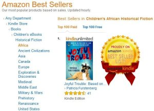 Joyful Trouble, Amazon Bestseller in eBook and paperback format