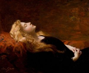 Sleeping Beauty painting by Victor Gabriel Gilbert