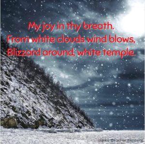 Blizzard Winter Christmas Haiku
