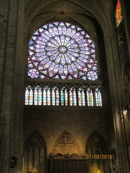 A beautiful N rose window of Notre Dame Cathedral-photo by Lysandra Furstenberg