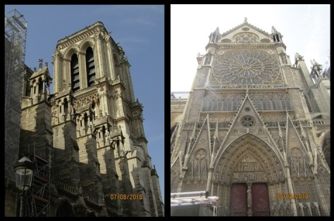 North facade of Notre Dame showing the exterior of the north rose window - photo by Lysandra Furstenberg