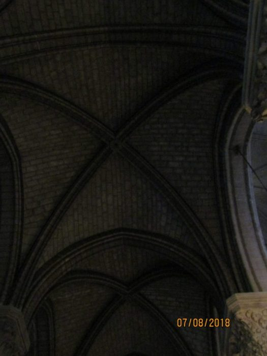 Notre Dame Cathedral - vaulted ceiling 2- photo by Lysandra Furstenberg