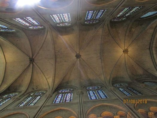 Notre Dame Cathedral - vaulted ceiling - photo by Lysandra Furstenberg