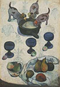 """Life with Three Puppies"" by Paul Gauguin"