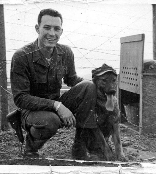 Korean War - military dog and vet
