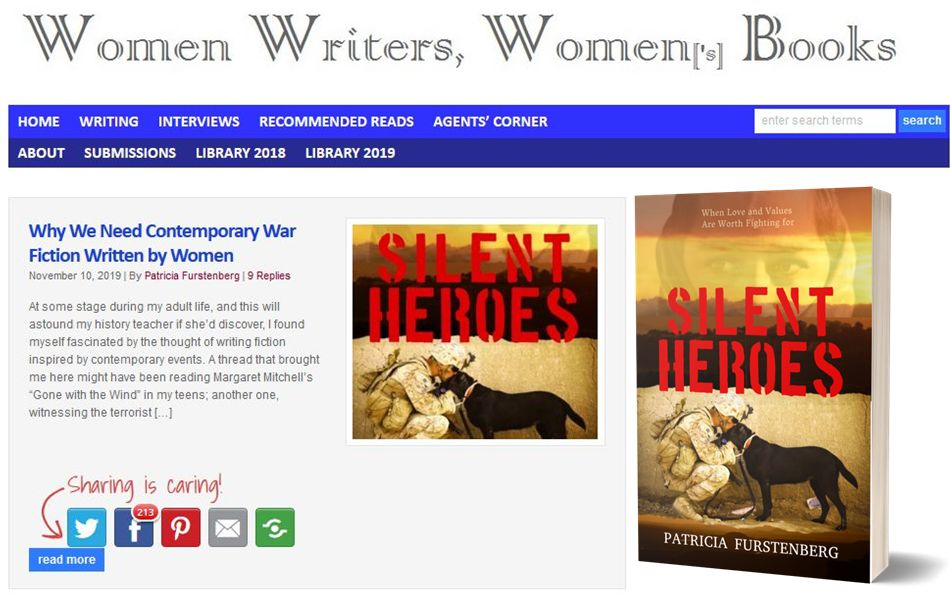 Silent Heroes by Patricia Furstenberg - Women writing contemporary war books