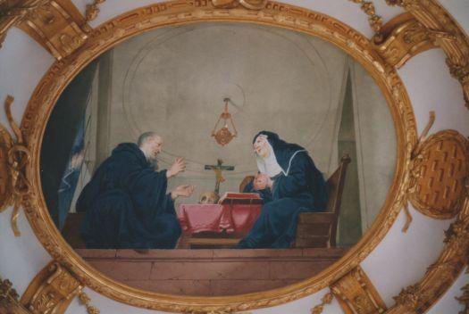 Benedict and Scholastica, Klosterkirche Elchingen. Wikipedia.  convents religious life medieval women