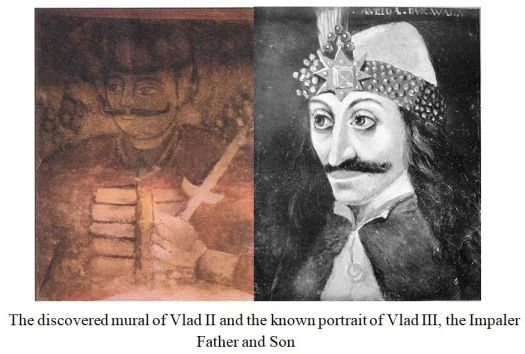 Comparing Vlad II with Vlad III, Tepes, the Impaler. Notice similarities.